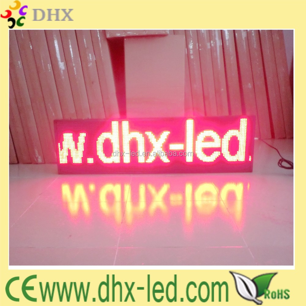 p10 red color semi-outdoor LED Display Sign