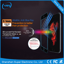 High transparent anti uv 9h tempered glass screen protector for iphone 6 6s