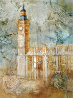 United Kingdom England Houses of Parliament Big Ben Oil Paintings