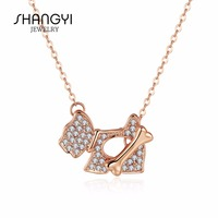 Lovely Design Rose Gold Dog Bone Necklace