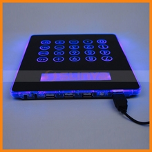 Blue Backlight Digital Mousepad Calculator With USB Charge Port