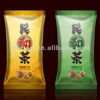 Chinese tea pouch with fascinated printing food packaging