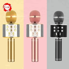 Fashion design portable handheld wireless bluetooth karaoke microphone