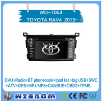 bluetooth car radio for TOYOTA RAV4 2013 2014 2015 2016 with android system 2 din dvd player black color support wifi bluetooth
