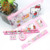 Portabel PVC Jelas Tas Dikemas Kitty stationery set