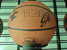 rubber basketball 2014 with embossed logo