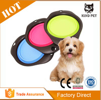 Multifuction silicon dog dish and collapsable water bowl