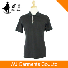 Best price of women lapel blank cotton t-shirt made in China