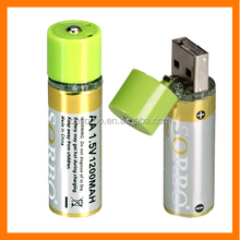 AA Battery Rechargeable Batteries USB Battery Pack Household Long-Lasting Backup Power Supply for Remote Control, 1200mAh