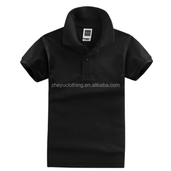 Short Sleeve Children Polo T Shirts 100% Cotton Blank Kids Polo Shirts Wholesale