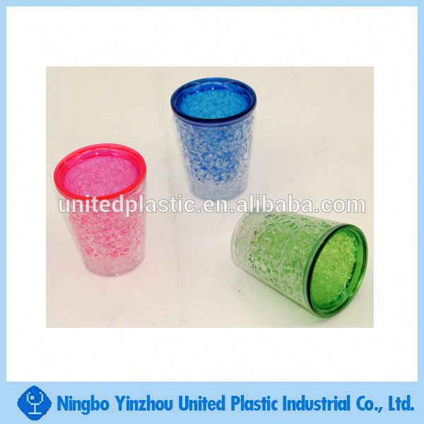 Plastic BPA Free Double Wall Freezer Gel Shot Glass