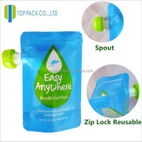 liquid stand up pouch with spout doy pack for anergy drinks