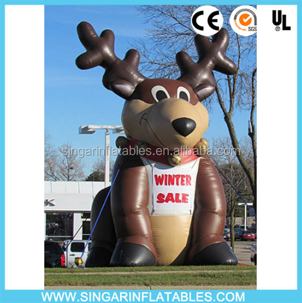 HIght quality outdoor advertising large inflatable deer advertising balloon