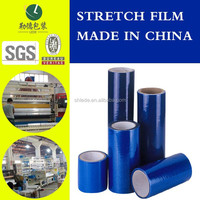 3 layers co-extrusion blue pallet wrap stretch film