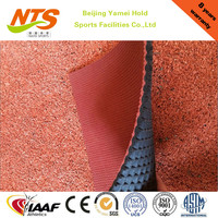Flame resistance synthetic rubber running track for indoor playground