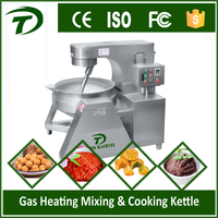 Industrial automatic tilting sauce cooking mixer