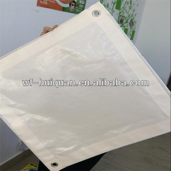 China virgin white pe tarpaulin