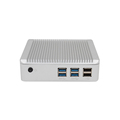 Fanless core i3-4010U mini cloud computer with 3M Cache , can support optional wifi.