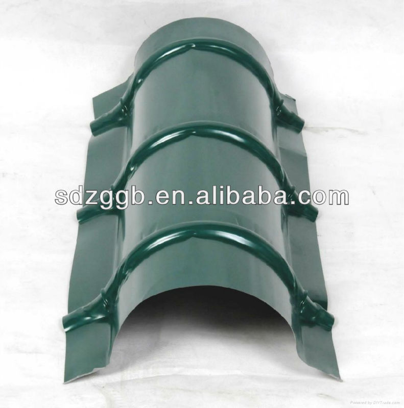 0.4*420mm stone coated metal roof tile