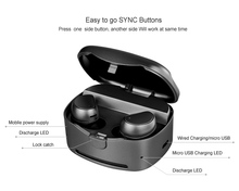 TWS bluetooth ear phone with power bank super mini & micro v4.0 earphone in-ear wireless smallest invisible ear piece earbud