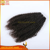 5A Natural Black Color Unprocessed Different Types Of Curly Weave Hair