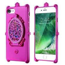 Fancy cell phone cases tpu mirror phone cases for iPhone 6S 6 Plus 6S Plus with stand function