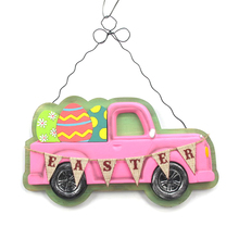 france 3d car shape miniature wood carving crafts for easter gifts