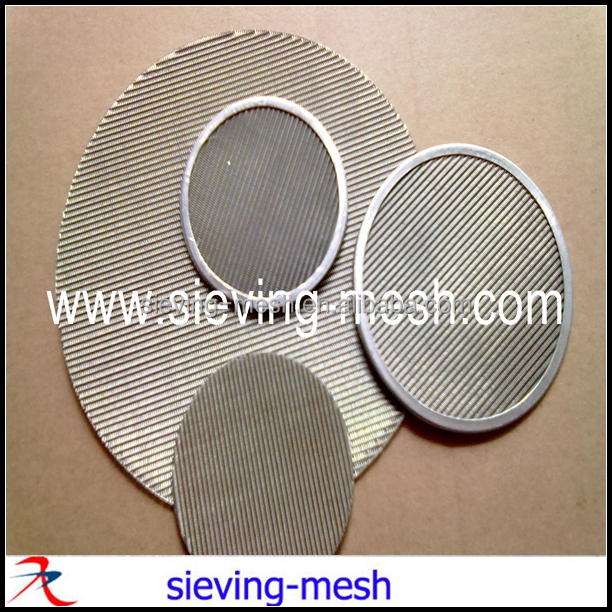 Round Shape Metal Plastic Extruder Screens, Ss Extruder Filter Discs
