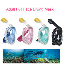 Swimming Goggles Snorkeling Full Face Dive Mask Black Pink Grey Yellow L/XL Water Sports For GoPro