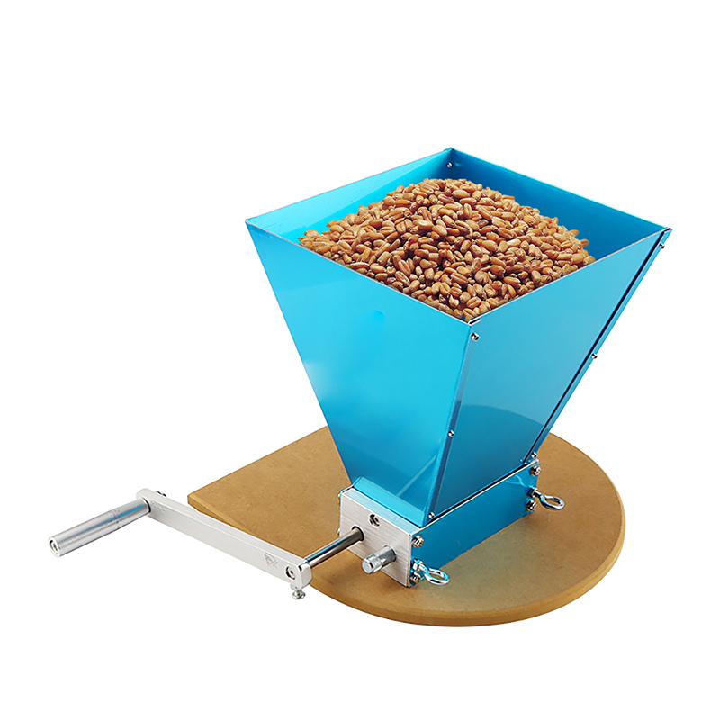 NEW Upated Home brewing  Barley Crusher Malt Grain Mill 3 Rollers Stainless Steel 304 with Wooden Base
