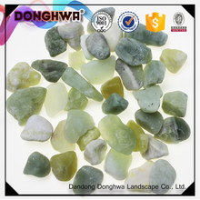 Hot Sale river rock green jade pebble stone for fish tank decoration