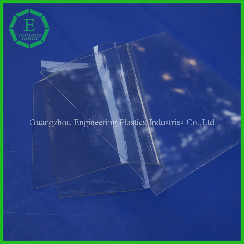 guangzhou engineering custom made thin 2mm rigid pvc flexible plastic sheet