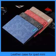 Denim Lines Wallet Leather Case Flip Cover for ipad 6&mini, iphone6/6plus