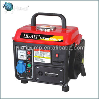 portable gasoline generator with handle, family using generator, daily usage