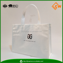 Promotional gold stamping non woven gift bag foldable shopping bag