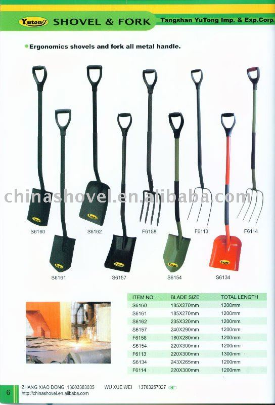 PAGE 6 ERGONOMICS SHOVEL AND FORK