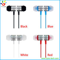 High Quality Metal Piston Earphone, 3.5mm In-ear Stereo Earphone with Mic and Volume Control