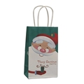 Cheap Price Santa Claus Christmas Drawstring Paper Packaging Gift Bags For Promotion
