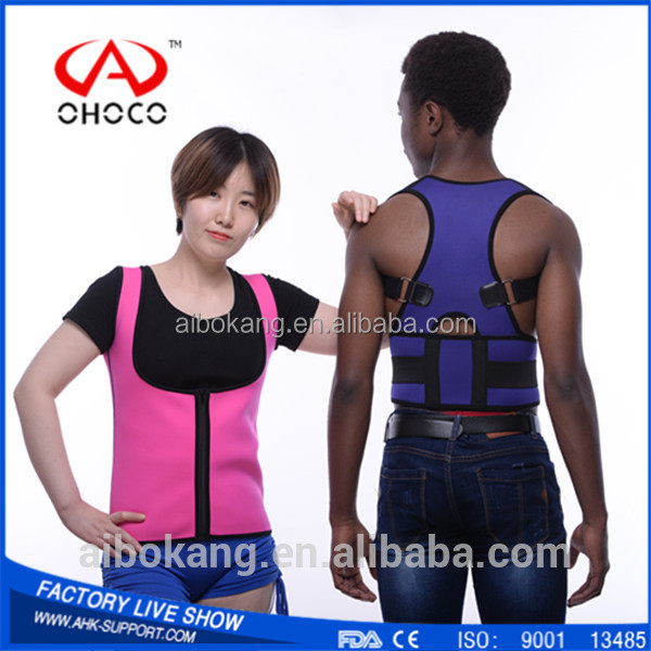 Neoprene Material Waist Support Sauna Sweat Reducing Slimming Vest Body Shaper