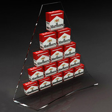 Acrylic display stand for cigarette triangle stackable case