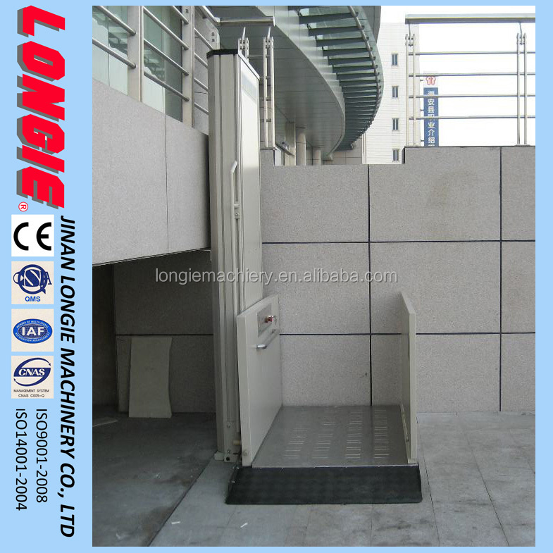 WCL0.35-1.8 Wheelchair lift for old, disabled, public