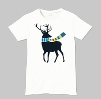 2016 Hot Selling Digital Printed with little deer Round Neck Custom T shirt Printing