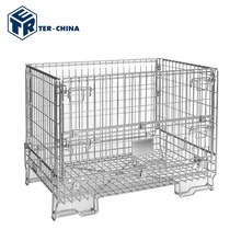 Warehouse Folding Collapsible Storage Wire Mesh Containers