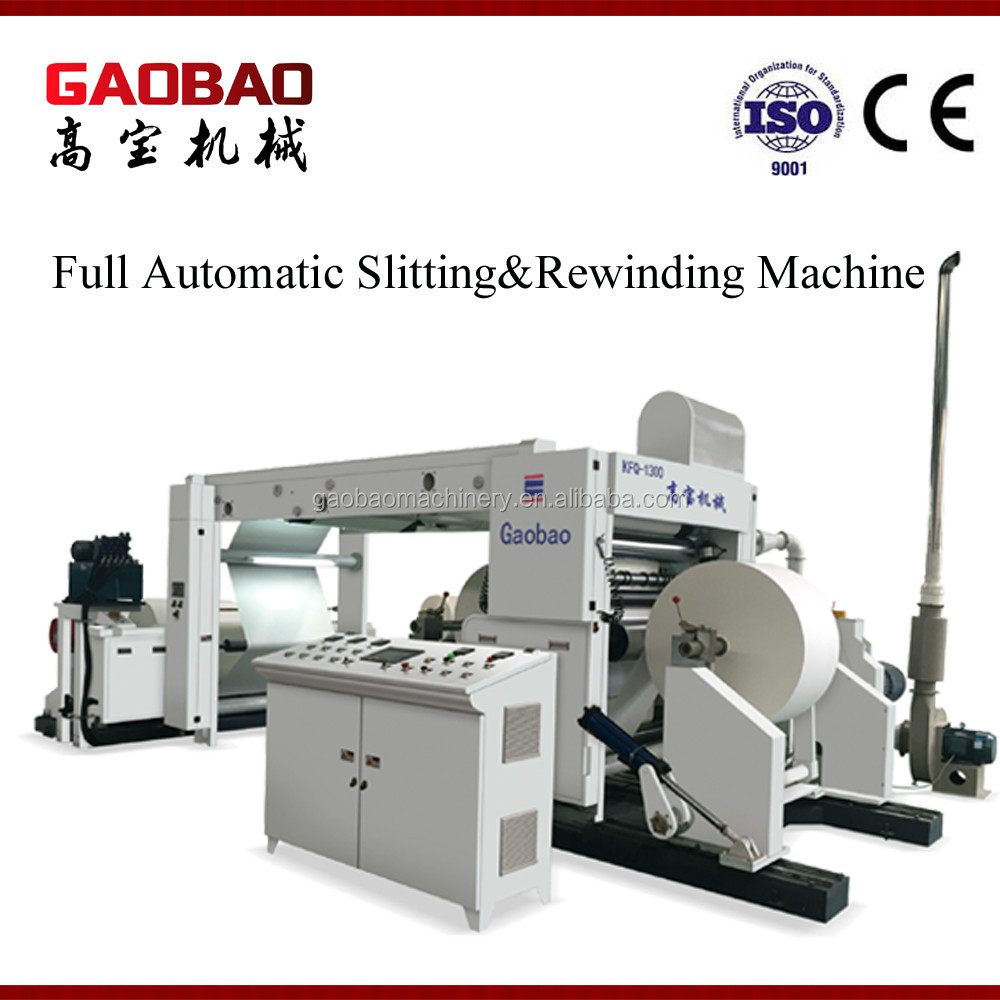 Full Auto Bill Paper Slitting And Rewinding Machine Price Flexible Easy