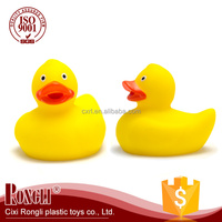 2017 Wholesale Custom Child Baby Cute Duck rubber bath toy