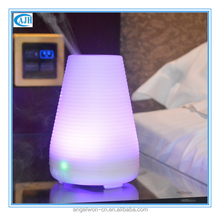 100ml corrugated lamp shape essential oil diffuser electric air humidifier ultrasonic aroma diffuse mist maker with LED