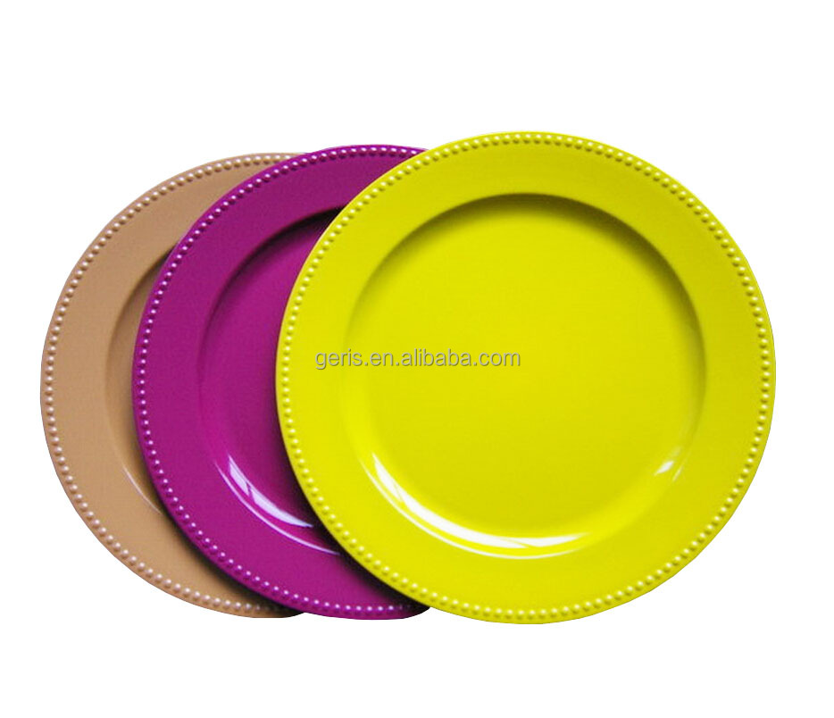 "GRS 13"" disposable colored Plastic Charger Plates"