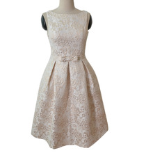 OEM brand name clothing manufacture bow design jacquard winter prom for big girls evening party dress