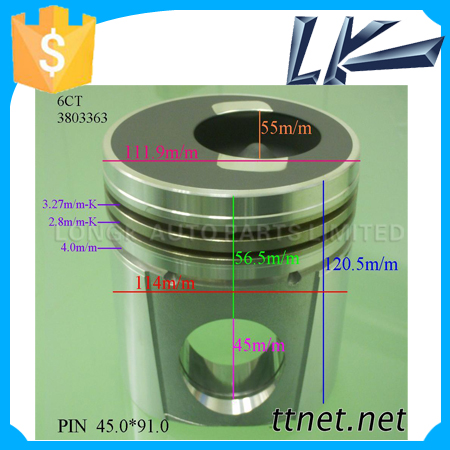 114mm 6CT 3803363 Engine Piston