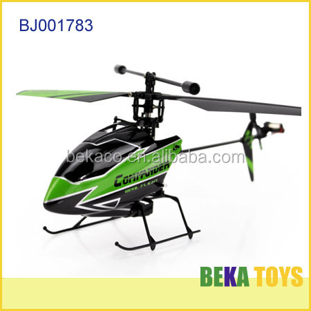 New arrival wholesale 4 channel 2.4G green single propeller rc helicopter